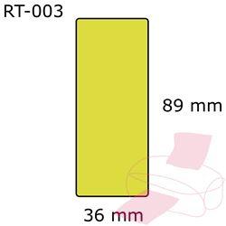 Suuri osoitetarra keltainen